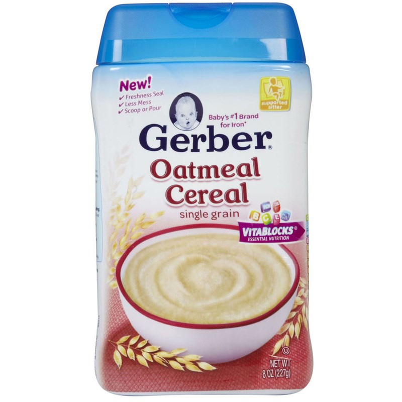 Bot an dam Gerber yen mach Oatmeal Cereal single grain 227g