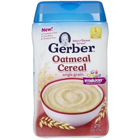 Bot an dam Gerber yen mach Oatmeal Cereal single grain 227g