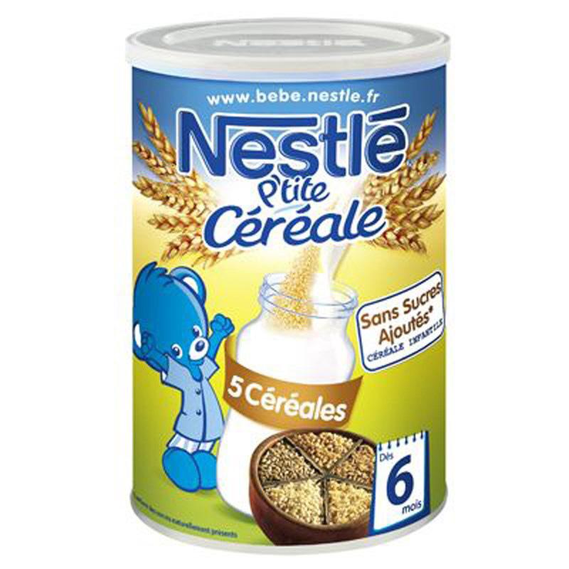 Bot pha sua Nestle vi 5 loai ngu coc 6m+ (400g)