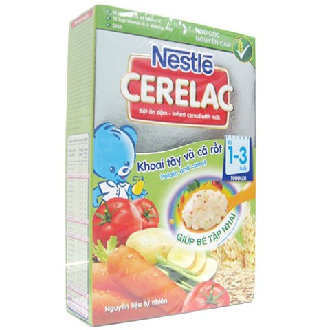 Bot dinh duong Nestle Cerelac khoai tay va ca rot (200gr)