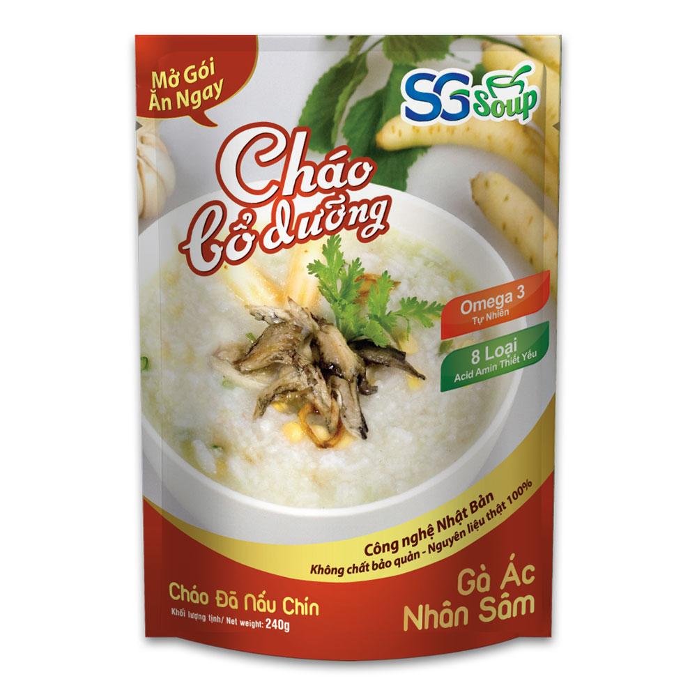Chao bo duong SG Soup - Ga ac nhan sam