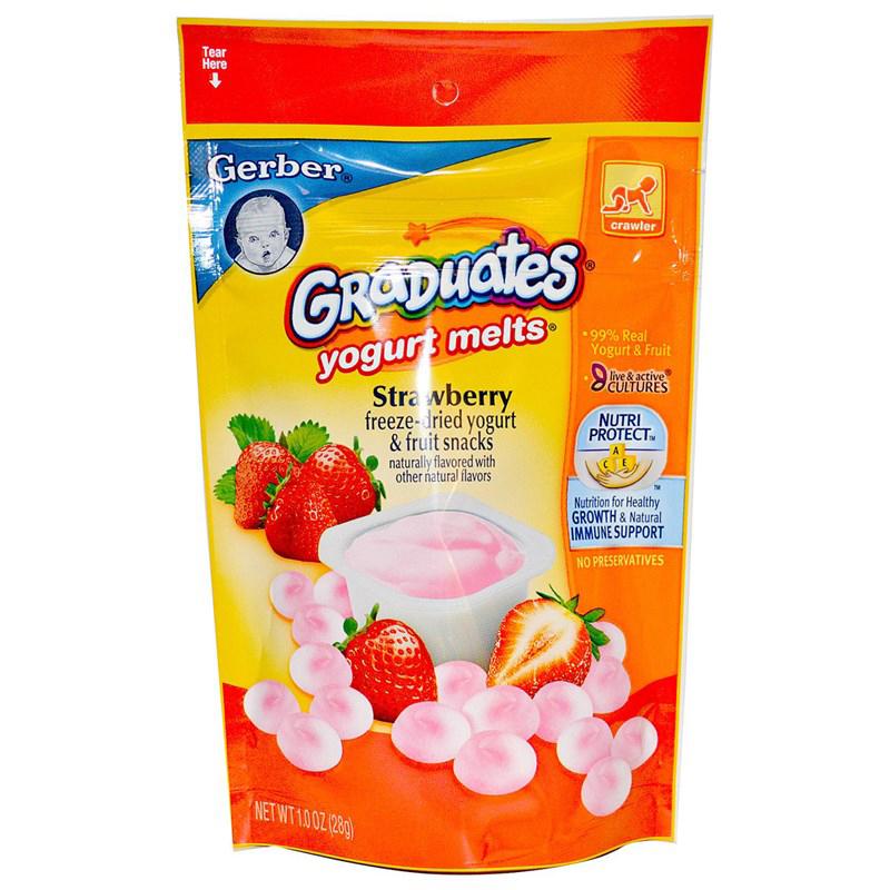 Sua chua kho Gerber Yogurt Melts nhieu huong vi