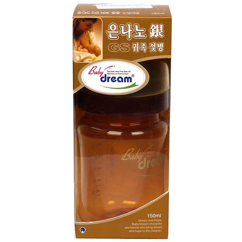 Binh sua Baby dream - nano silver 150ml (co rong)