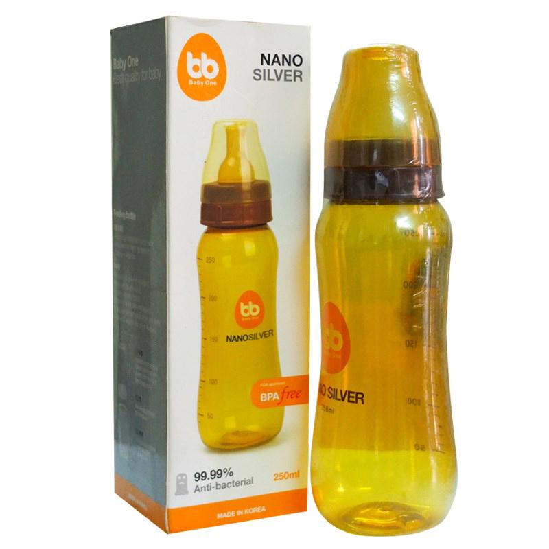 Binh sua Nano Silver Baby One 250ml (co hep)