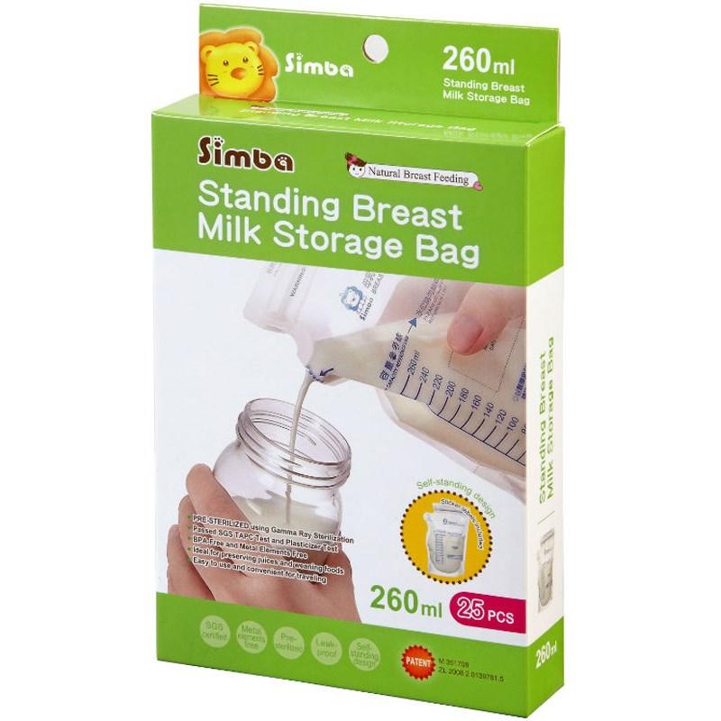 Túi trữ sữa Simba 3D dung tích 260ml S9932