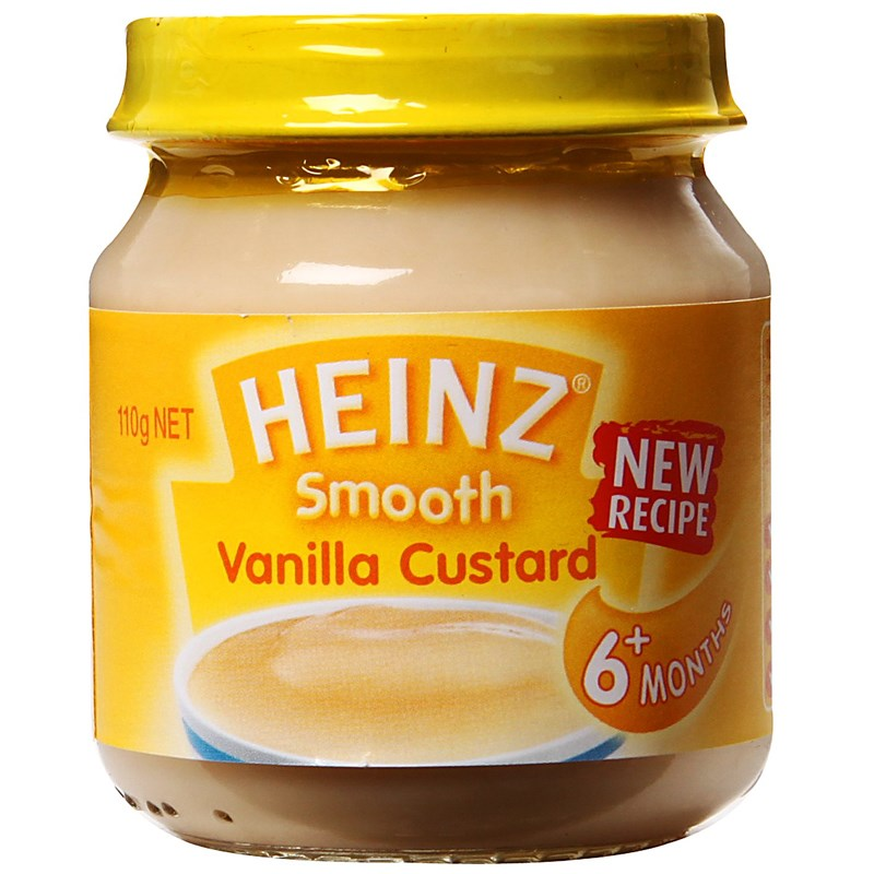 Dinh dưỡng đóng lọ Heinz Custard Vanilla
