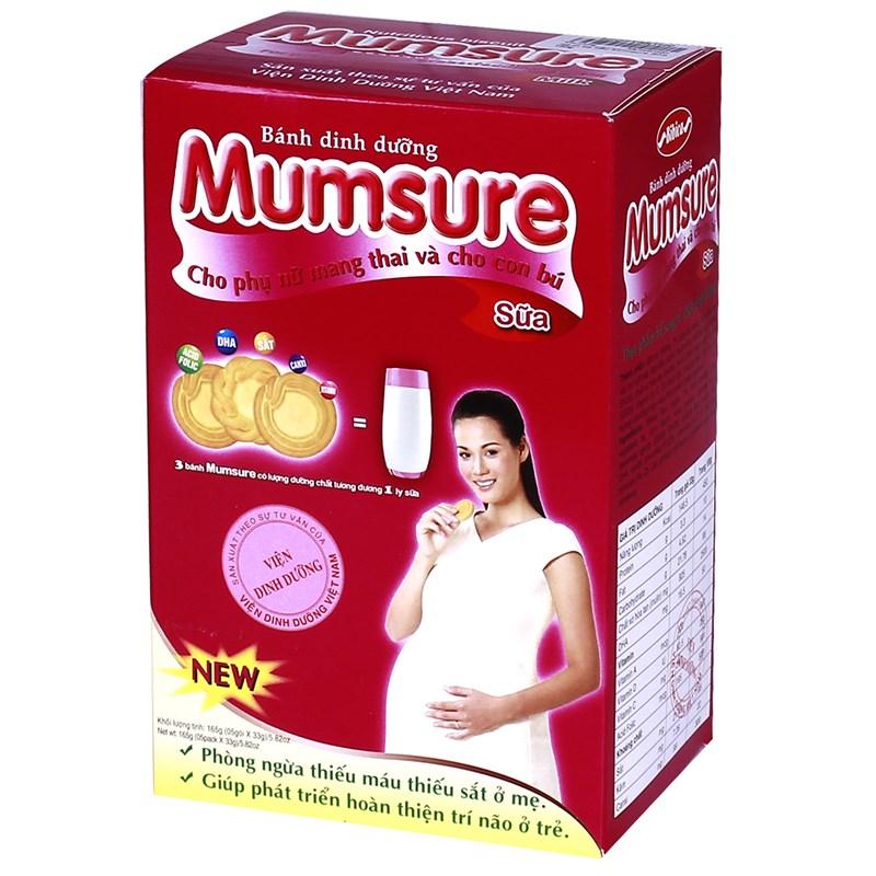 Bánh cho bà bầu Mumsure sữa (165g)