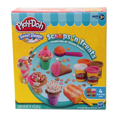 Bo lam kem sac mau Playdoh Scoops 'n Treats