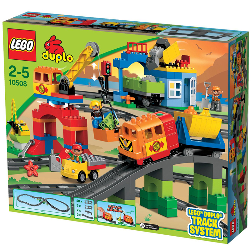 lego Duplo 10508- Mo hinh lego DELUXE TRAIN SET