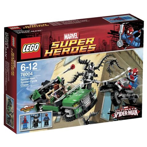 LEGO 76004 xep hinh Spider Man Spider Cycle Chase