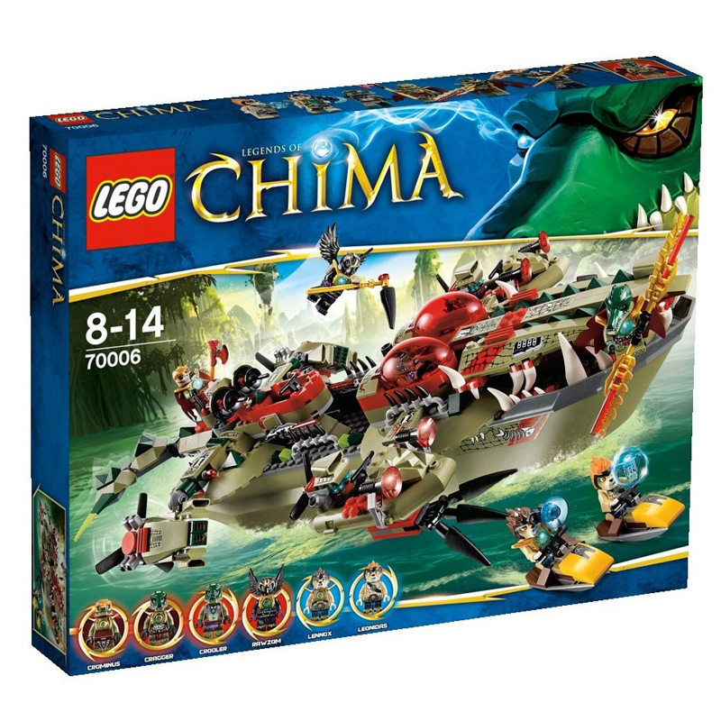 Do choi LEGO chima 70006 xep hinh Craggers Command Ship