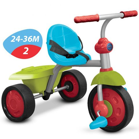 Xe ba banh Smart Trike Fun 2 trong 1 mau xanh la