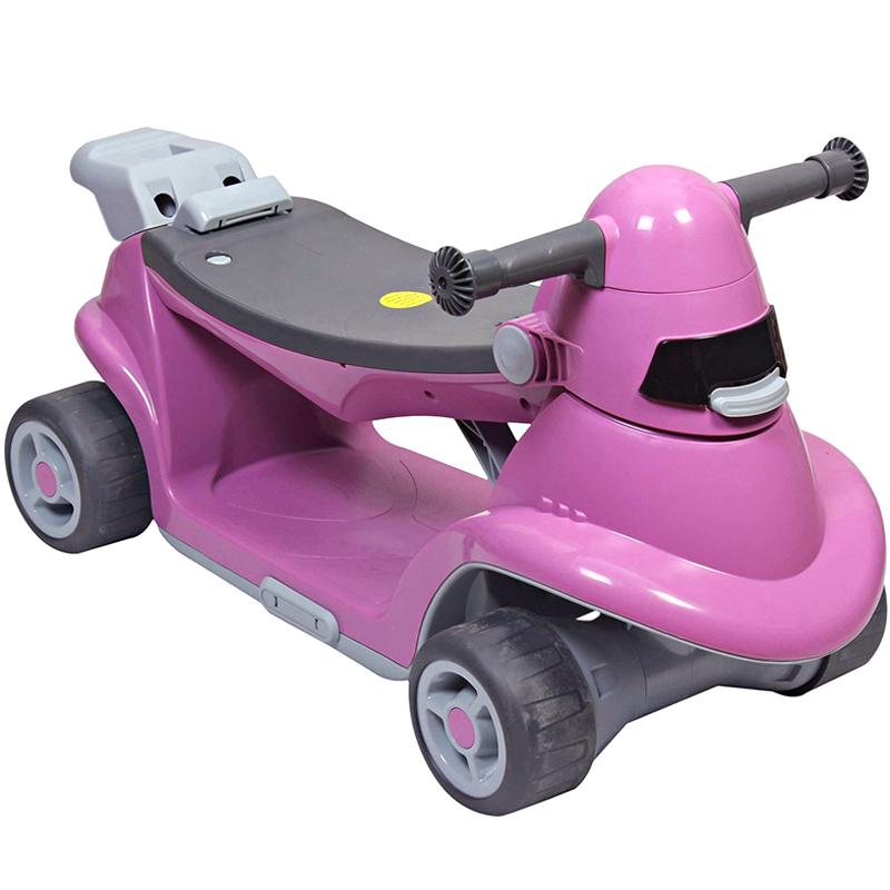 Xe choi chan Smart Trike AIO thong minh mau hong