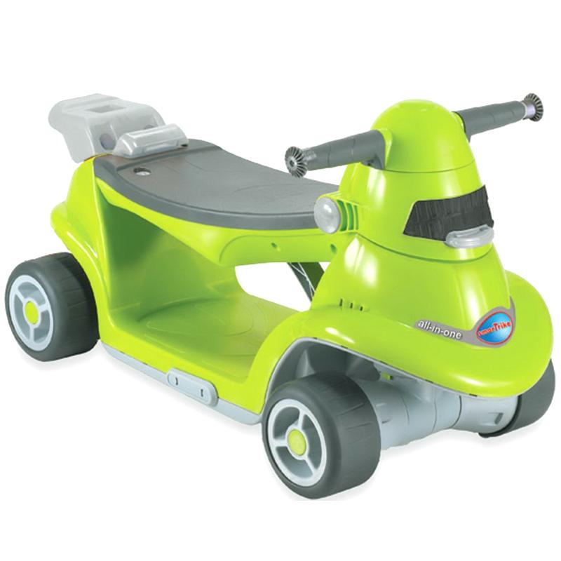 Xe choi chan Smart Trike AIO thong minh mau xanh la