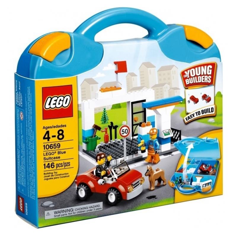 Do choi LEGO 10659 Blue Suitcase (vali lap rap xanh duong cho be trai)
