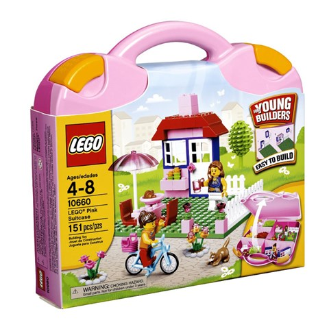 Do choi LEGO 10660 Pink Suitcase (vali lap rap mau hong cho be gai)