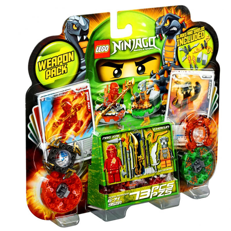 LEGO 9591 xep hinh Ninjago Weapon Pack - Lego Naruto 9591