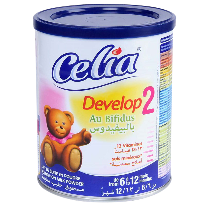 Sua bot cho be Celia Develop so 2 loai 400g
