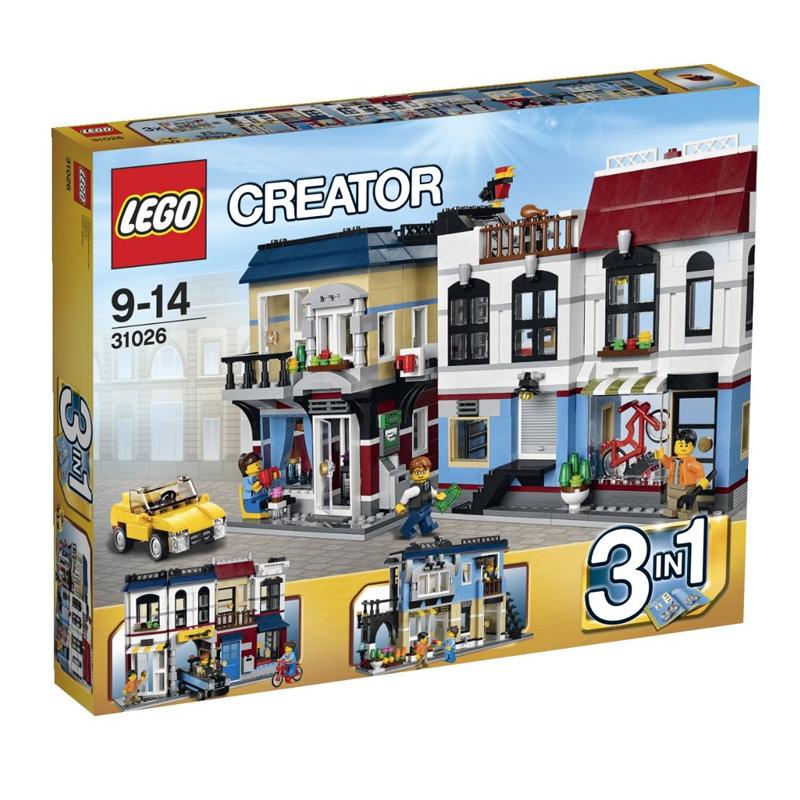 Do choi LEGO Creator 31026 - Cua hang xe dap va quan ca phe