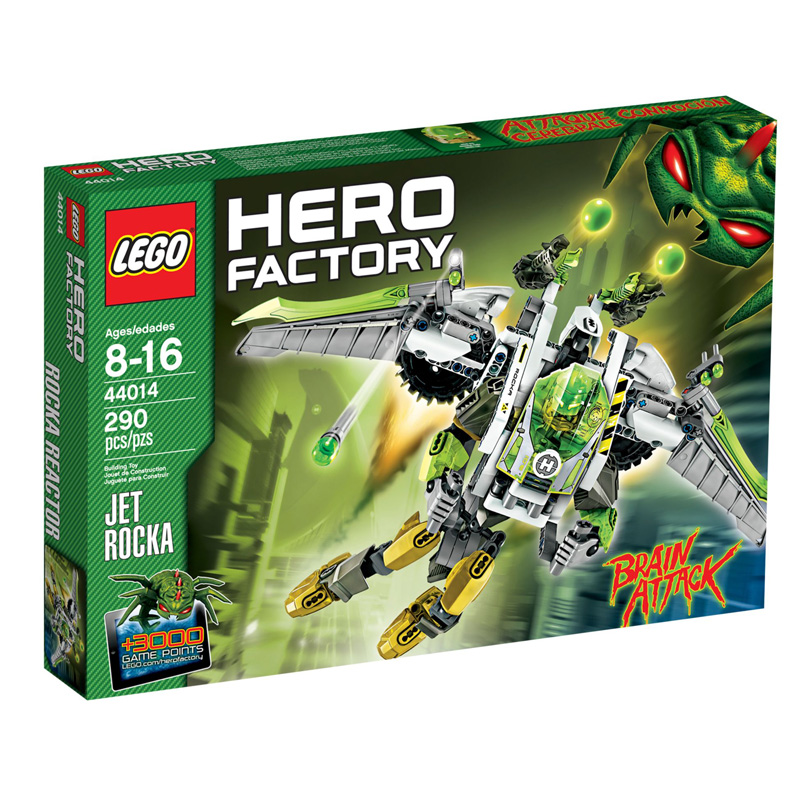 LEGO 44014 Hero Factory - Xep hinh may bay phan luc ROCKA