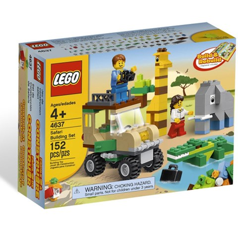 Do choi LEGO City 4637 xep hinh Safari Building Set