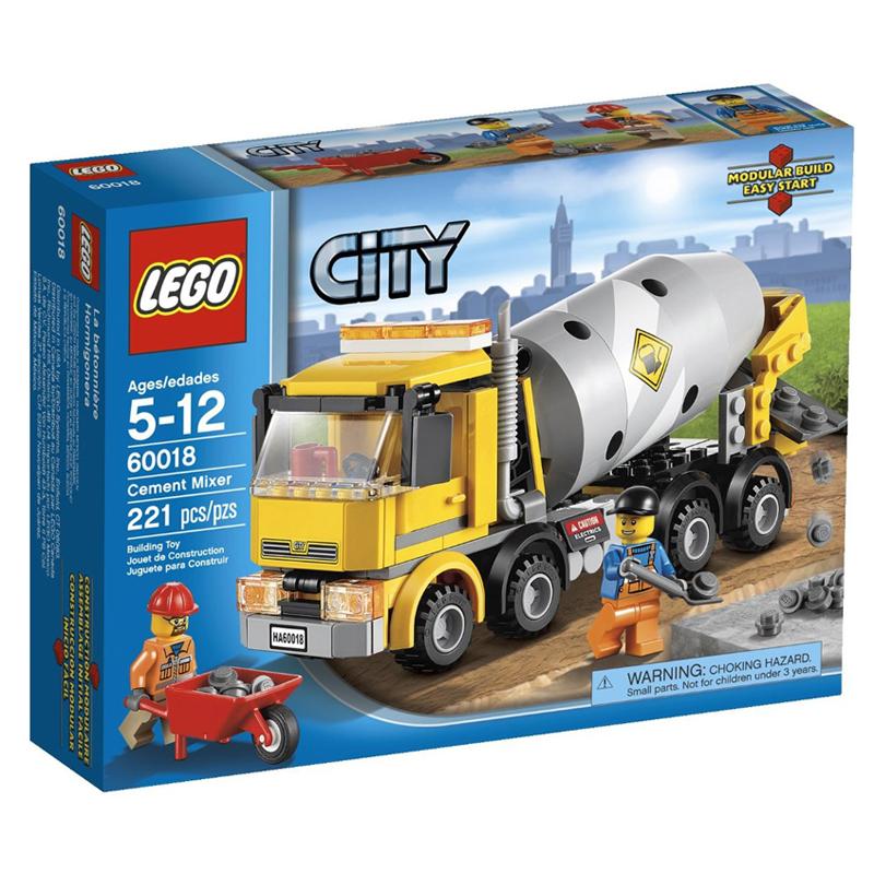 Do choi LEGO City 60018 - Xep hinh Xe Tron Xi Mang