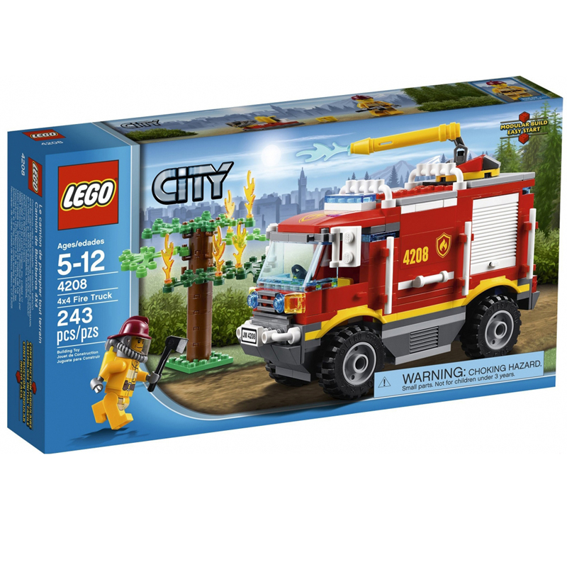 LEGO 4208 City - Xep hinh xe cuu hoa 4x4