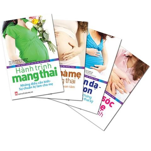 Bo cam nang cham soc ba me mang thai (bo 4 cuon) tang 1 tap chi Bau 2013