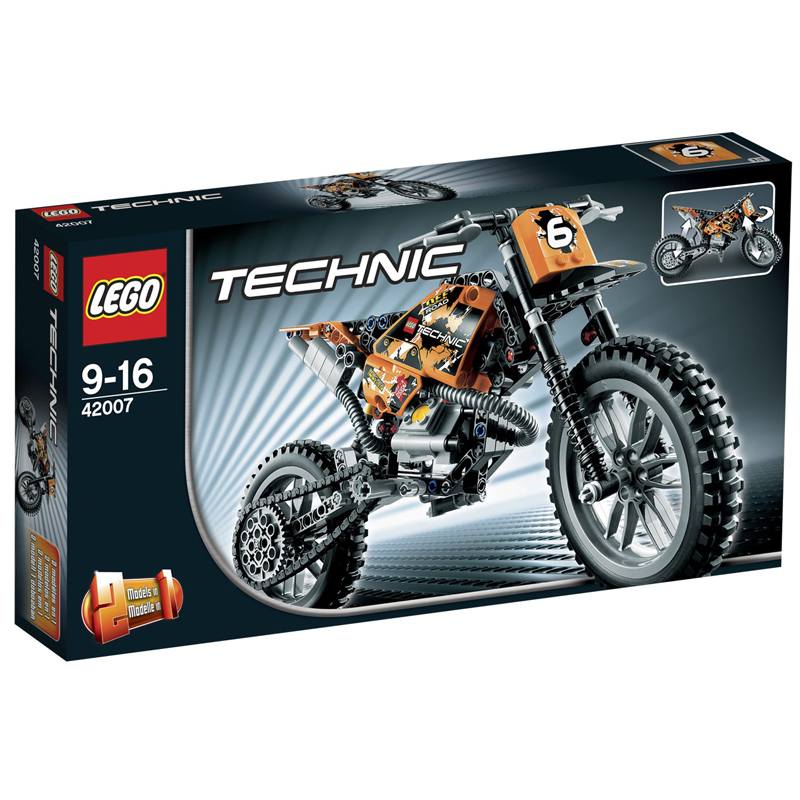 LEGO 42007 - Do choi xep hinh Moto Cross Bike mo to dia hinh