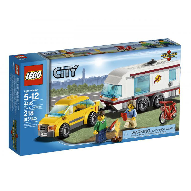 LEGO 4435 City - Xe hoi va nha luu dong