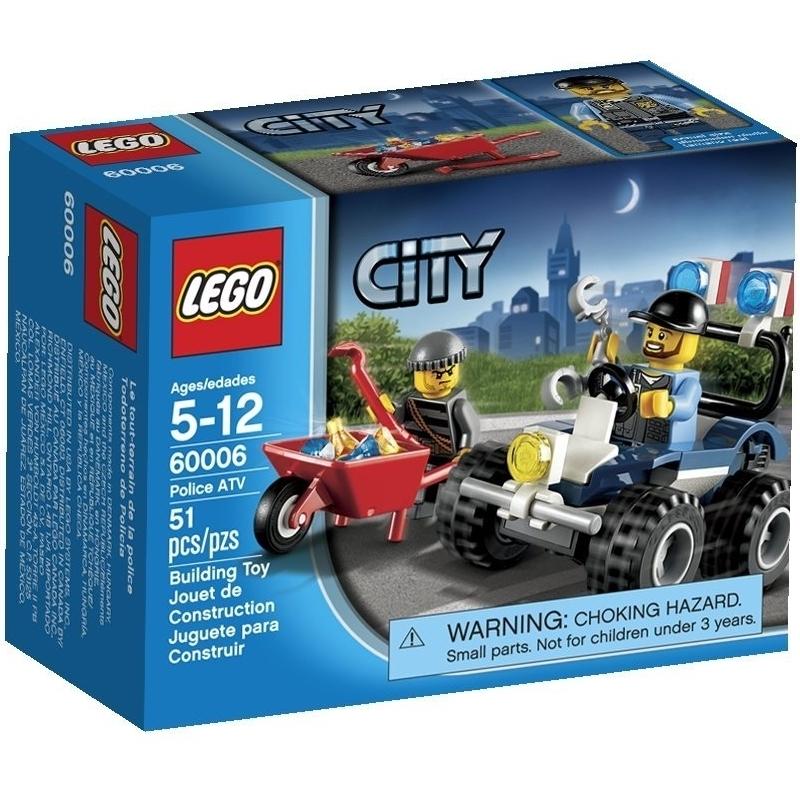 LEGO City 60006 - Do choi xep hinh xep hinh mo to dia hinh canh sat