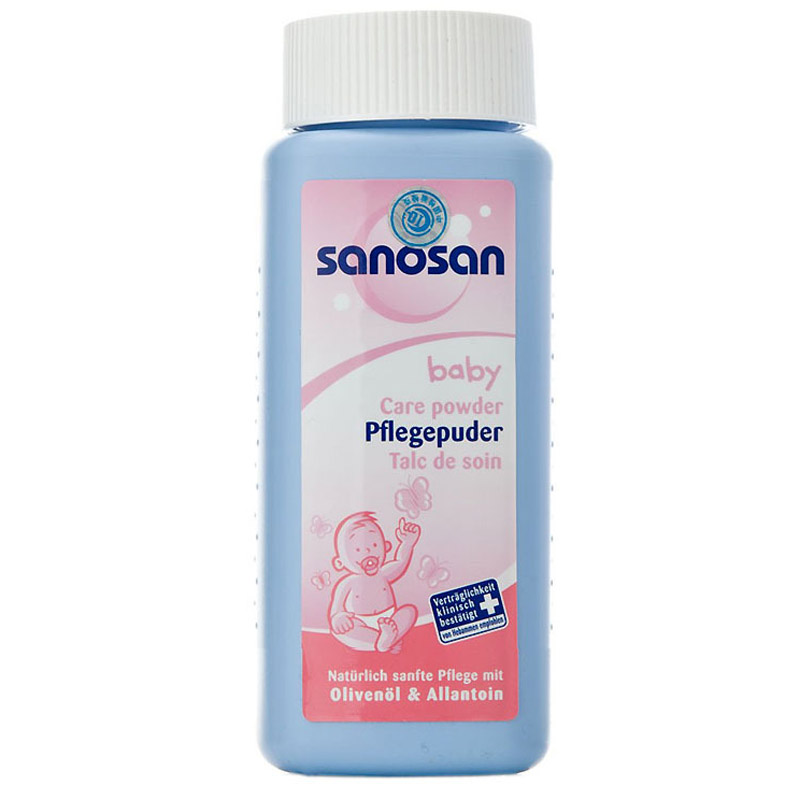 Phan rom Sanosan baby care powder 100gr