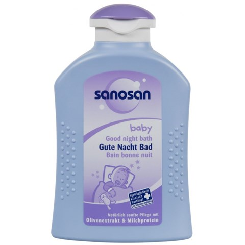 Sua tam giup be ngu ngon Sanosan Good Night Bath 200ml