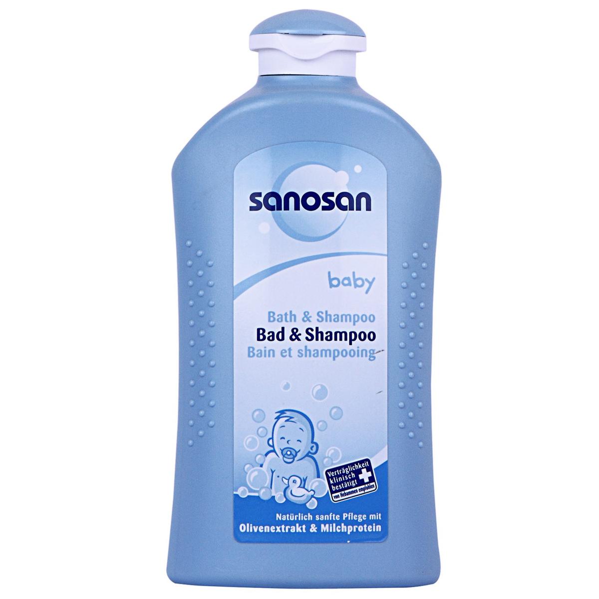 Tam goi cho be Sanosan baby bath & sampoo 500ml