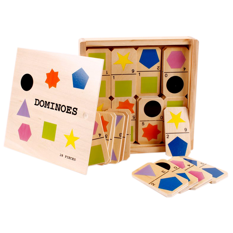 Do choi go Toptoys - Domino hinh hoc cho be 93416
