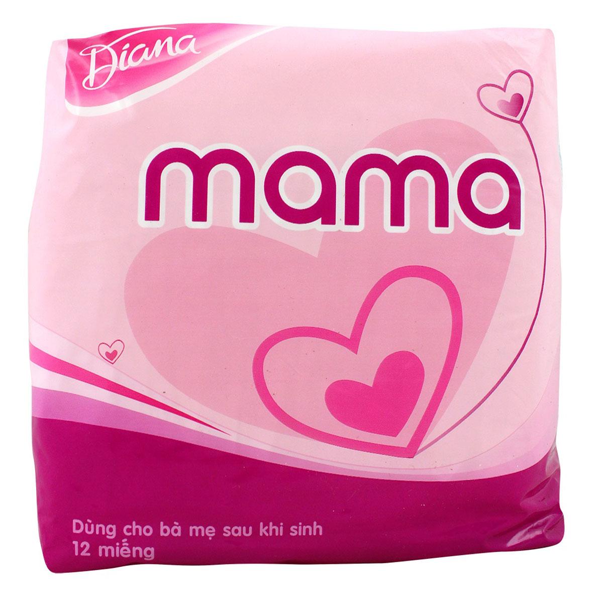 Băng Vệ Sinh Diana Mama 12m Cho Mẹ Sau Sinh
