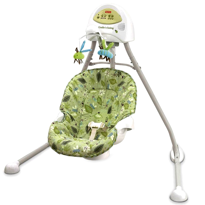 xich du fisher price cradle n swing scatterbug r3901