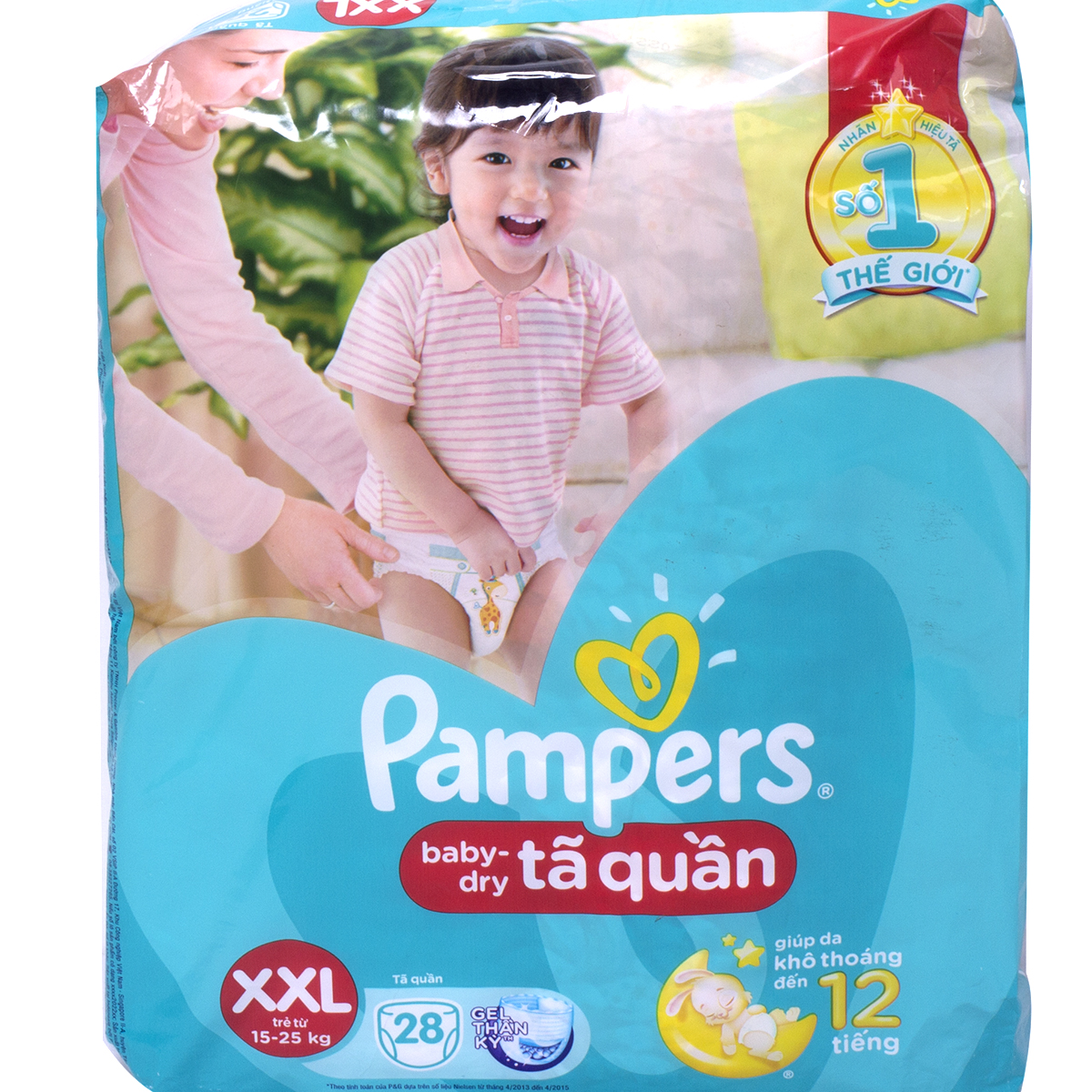 Ta - Bim quan Pampers XXL28 danh cho be 15 den 25kg