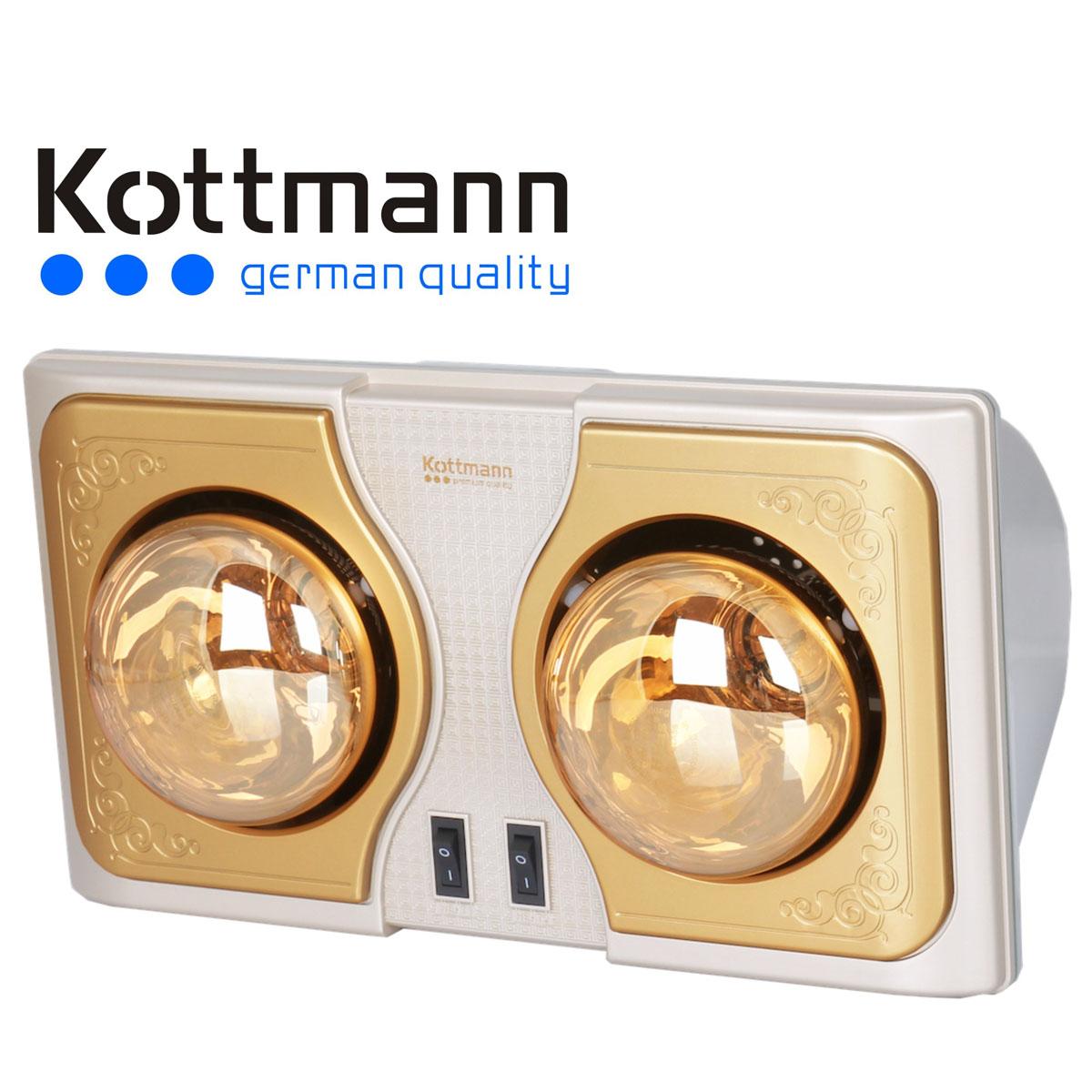 Den suoi Kottmann K2B-G treo tuong 2 bong