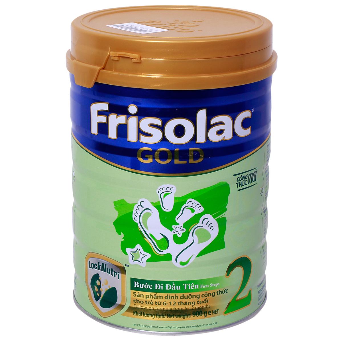 Kết quả hình ảnh cho Sữa Frisolac Gold số 2 900g