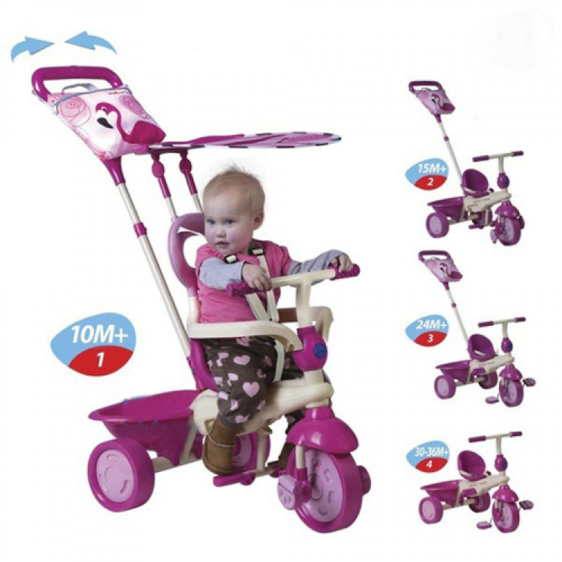 Xe 3 banh cam ung Smart Trike Flamingo