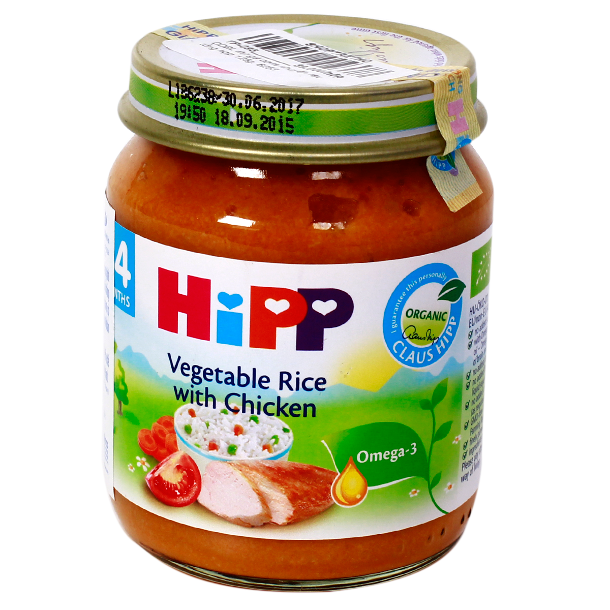 Dinh duong dong lo HiPP thit ga, com nhuyen va rau tong hop (125g)