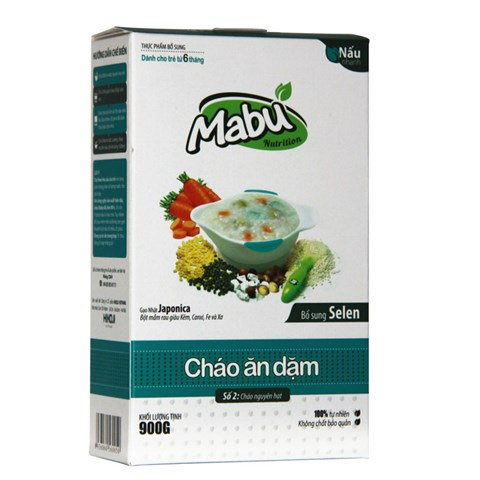 Chao an dam Mabu so 2 nguyen hat (900g)