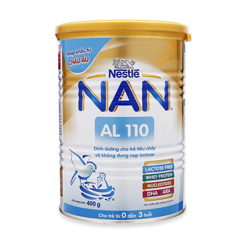 Sua Nan AL 110  400g - Cho tre tieu chay