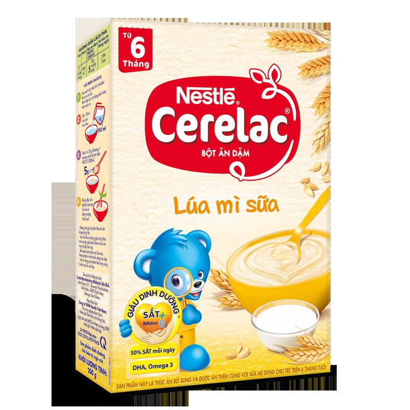 Bot dinh duong Nestle Cerelac lua my sua (200gr)