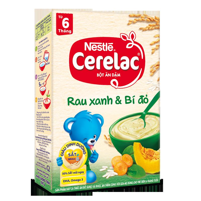 Bot dinh duong rau cu va bi ngo Nestle Cerelac