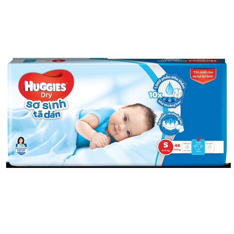 Ta dan so sinh Huggies Dry S46
