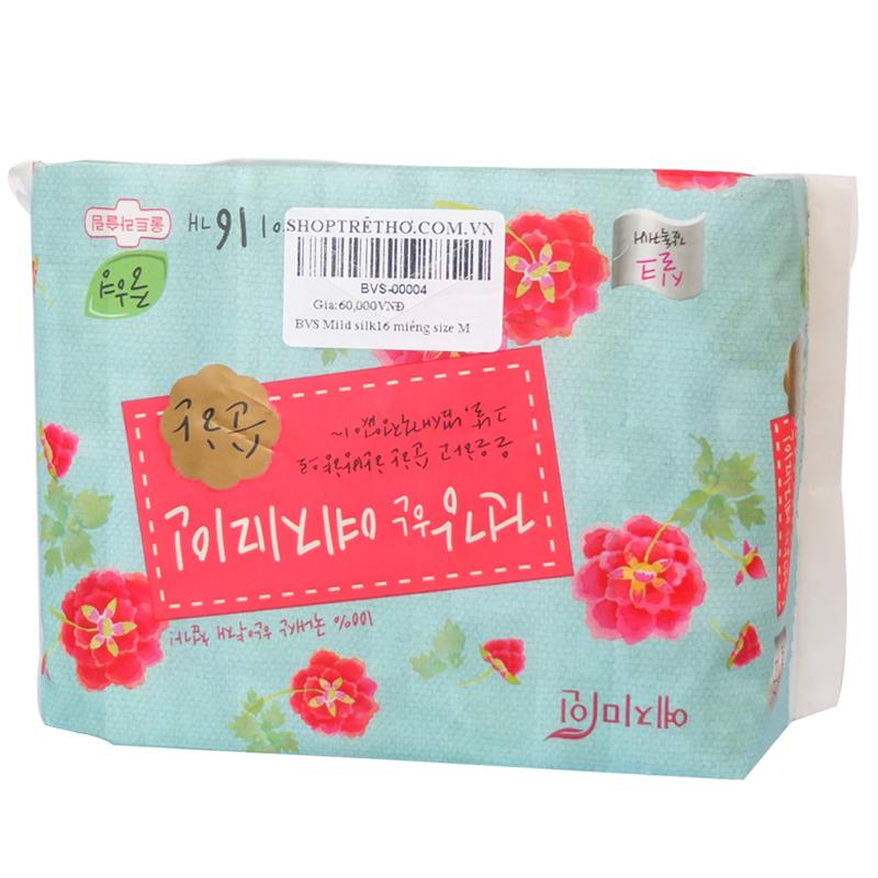 Bang ve sinh Mild silk (16 mieng) size M