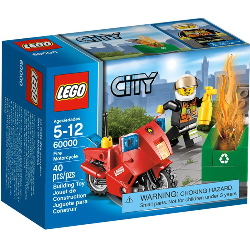 Do choi xep hinh LEGO City 60000 Fire Motorcycle