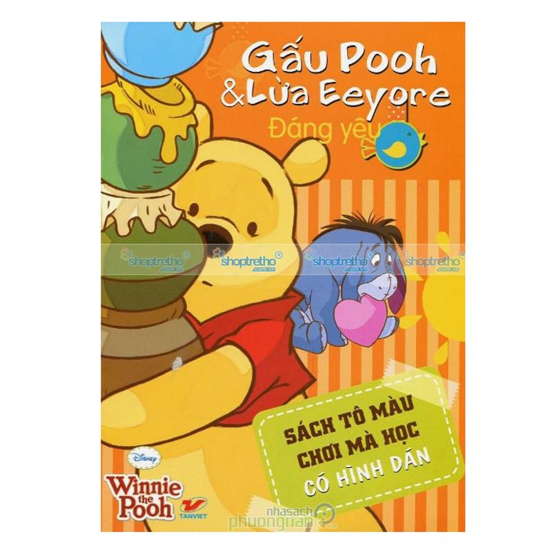 Gau Pooh & Lua Eeyore dang yeu - sach to mau choi ma hoc co hinh dan